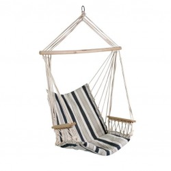 Подвесное кресло Garden4you Hip, white - blue striped